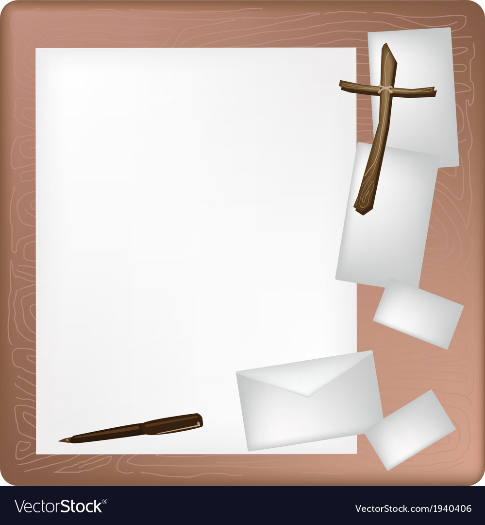 A pen lying on a blank page and envelope vector | Price: 1 Credit (USD $1)