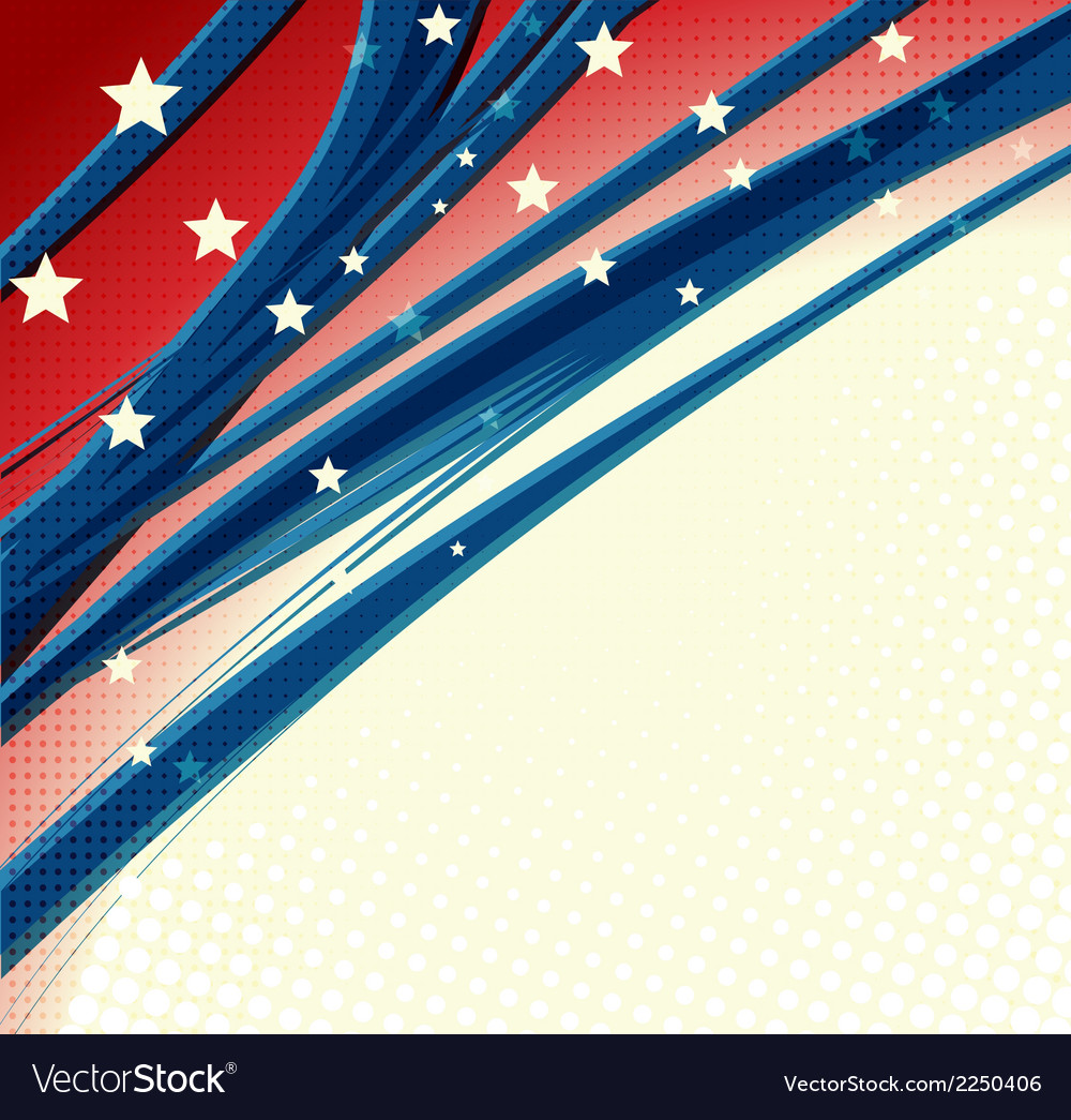 American independence day patriotic background vector | Price: 1 Credit (USD $1)