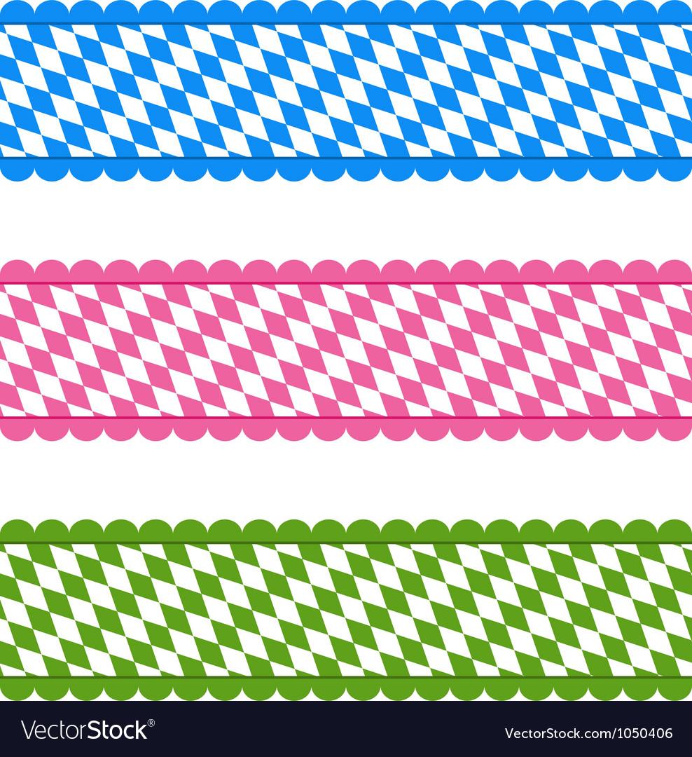 Bavarian ribbons vector | Price: 1 Credit (USD $1)