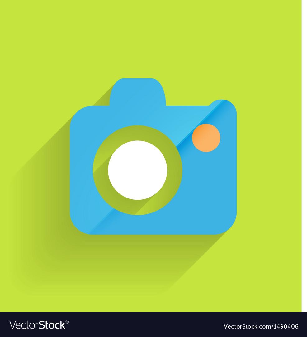 Camera icon flat modern design vector   Price: 1 Credit (USD $1)