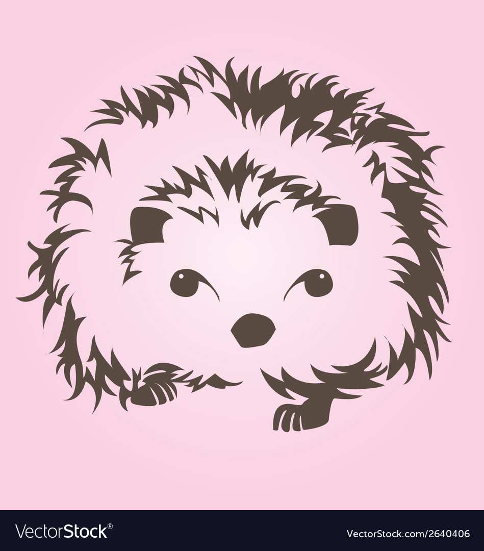 Cute porcupine vector | Price: 1 Credit (USD $1)