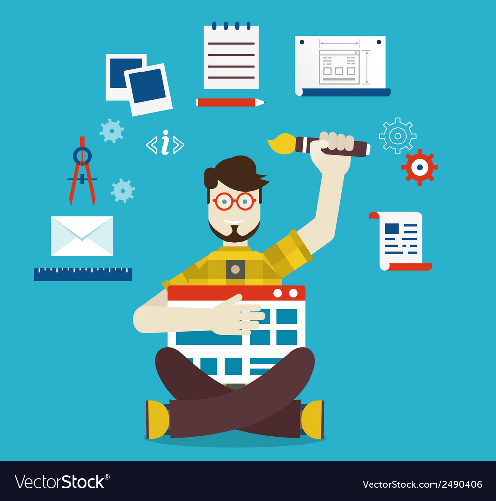 Designer and work vector | Price: 1 Credit (USD $1)