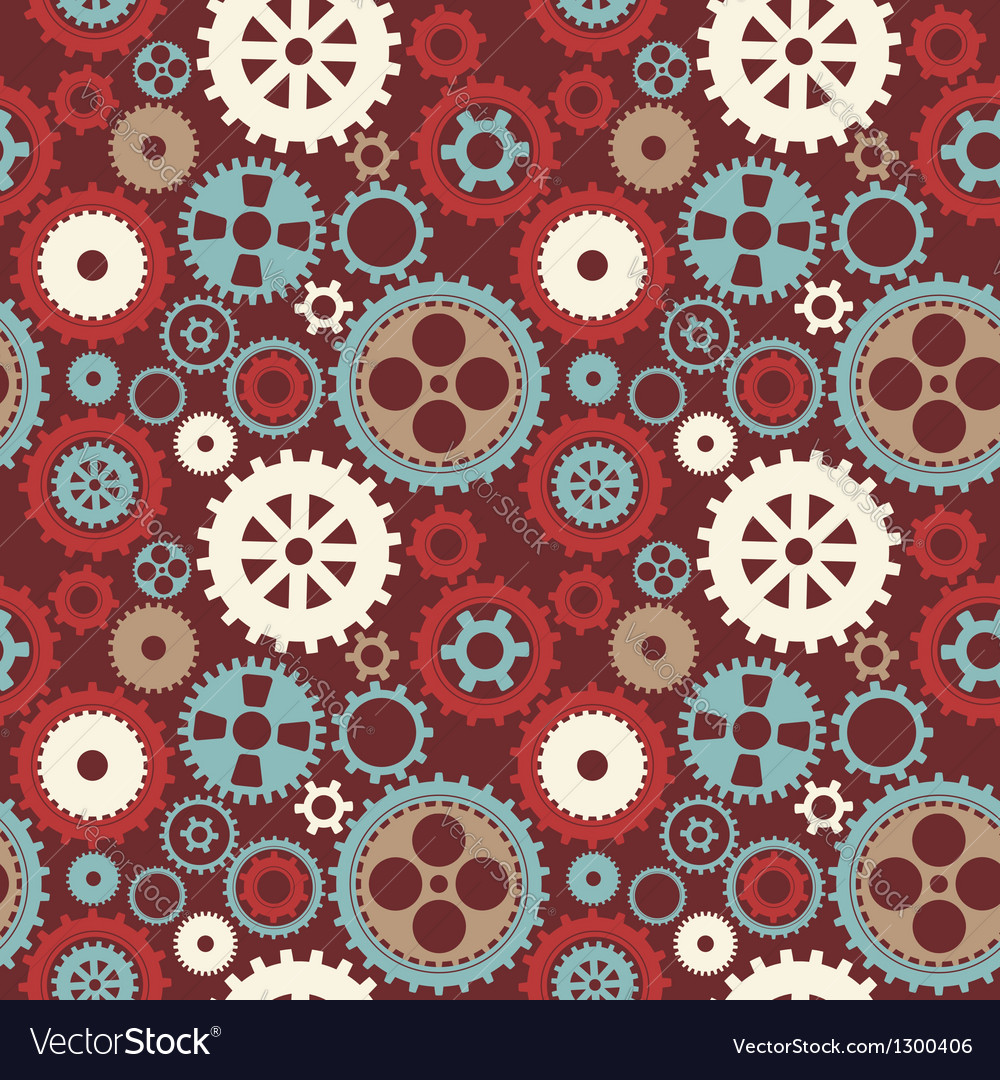 Gear cog silhouette seamless pattern vector | Price: 1 Credit (USD $1)
