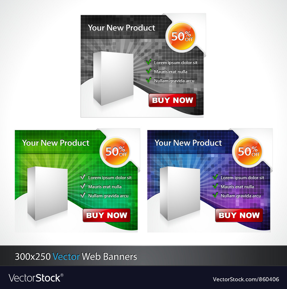 Glossy banners set vector | Price: 1 Credit (USD $1)