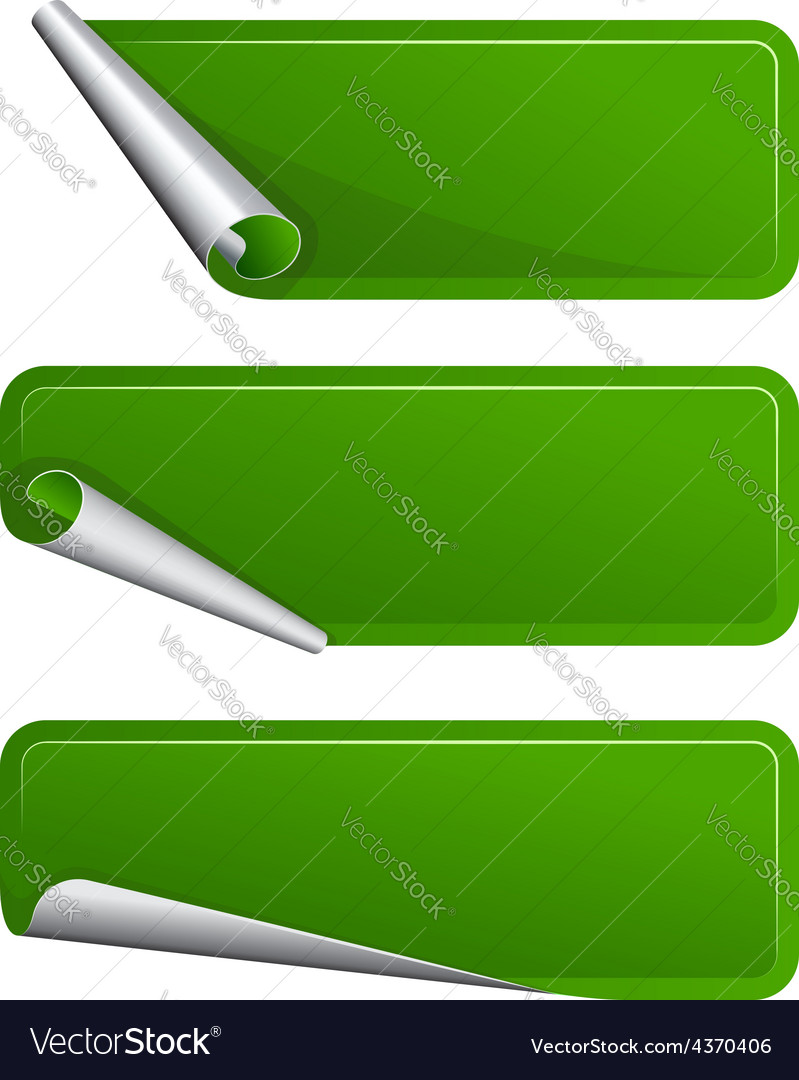 Green label with a curved side vector | Price: 1 Credit (USD $1)