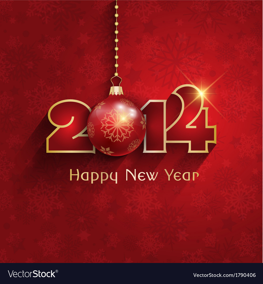 Happy new year background with a clock design vector | Price: 1 Credit (USD $1)