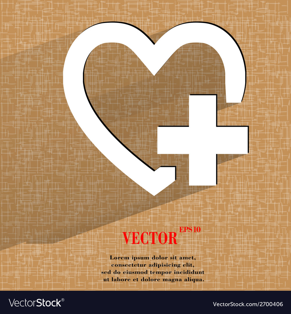 Heart flat modern web design on a flat geometric vector | Price: 1 Credit (USD $1)