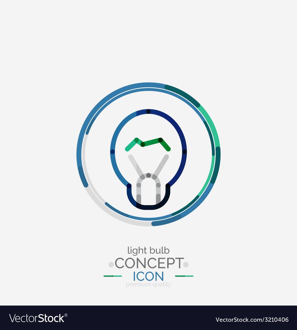 Light bulb minimal design logo vector | Price: 1 Credit (USD $1)
