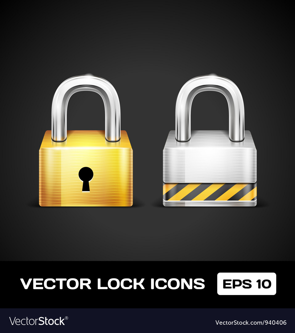 Lock icons vector | Price: 3 Credit (USD $3)