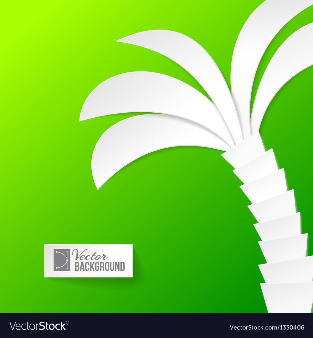 Palm tree on white background vector | Price: 1 Credit (USD $1)