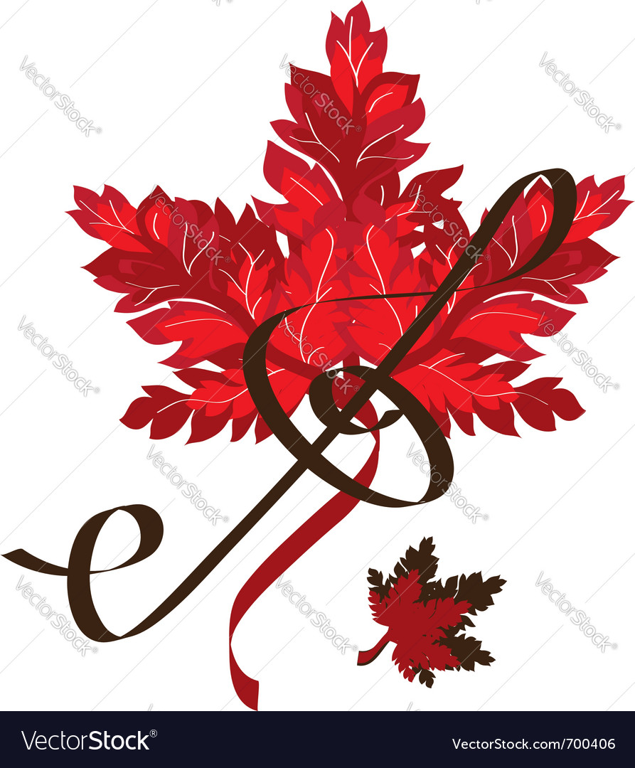 Red leaf vector | Price: 1 Credit (USD $1)