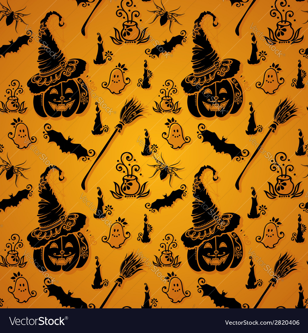 Seamless halloween pattern vector | Price: 1 Credit (USD $1)