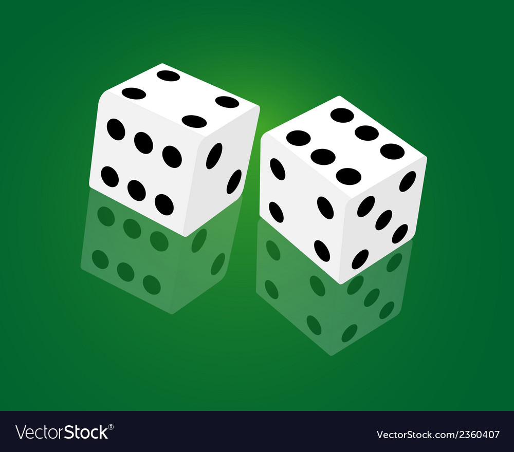 Casino dice game vector | Price: 1 Credit (USD $1)