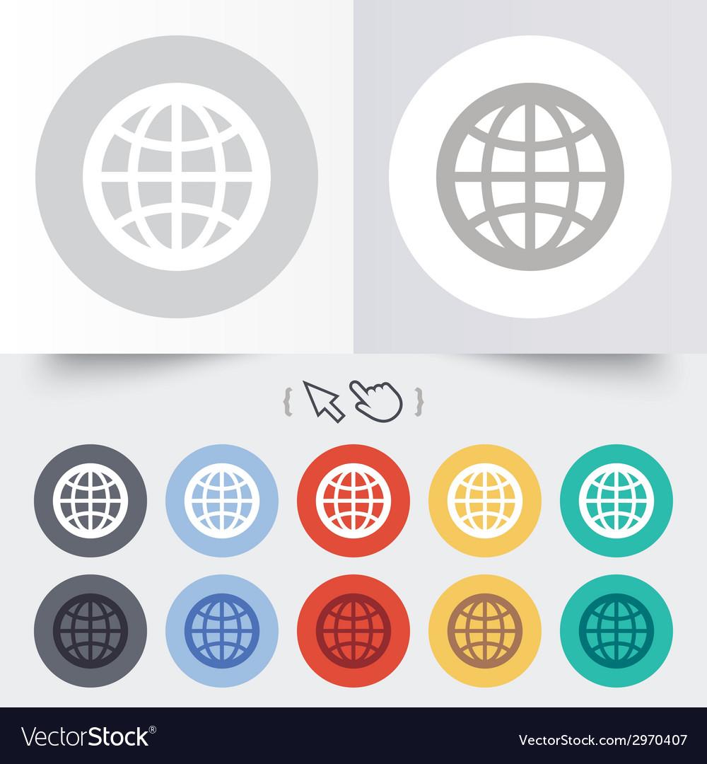 Globe sign icon world symbol vector   Price: 1 Credit (USD $1)