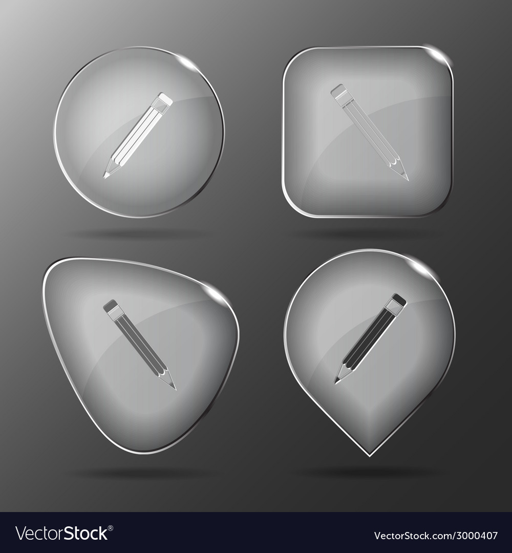 Pencil glass buttons vector | Price: 1 Credit (USD $1)