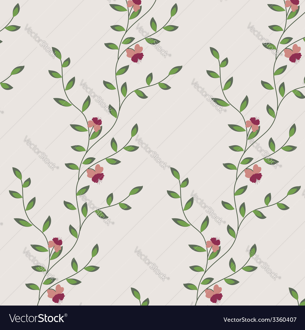 Retro floral pattern with flowers vector | Price: 1 Credit (USD $1)