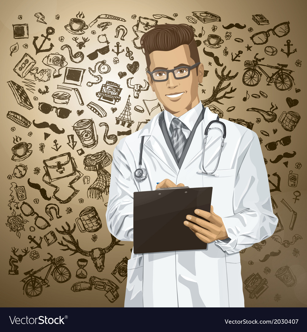Scientist vector | Price: 1 Credit (USD $1)
