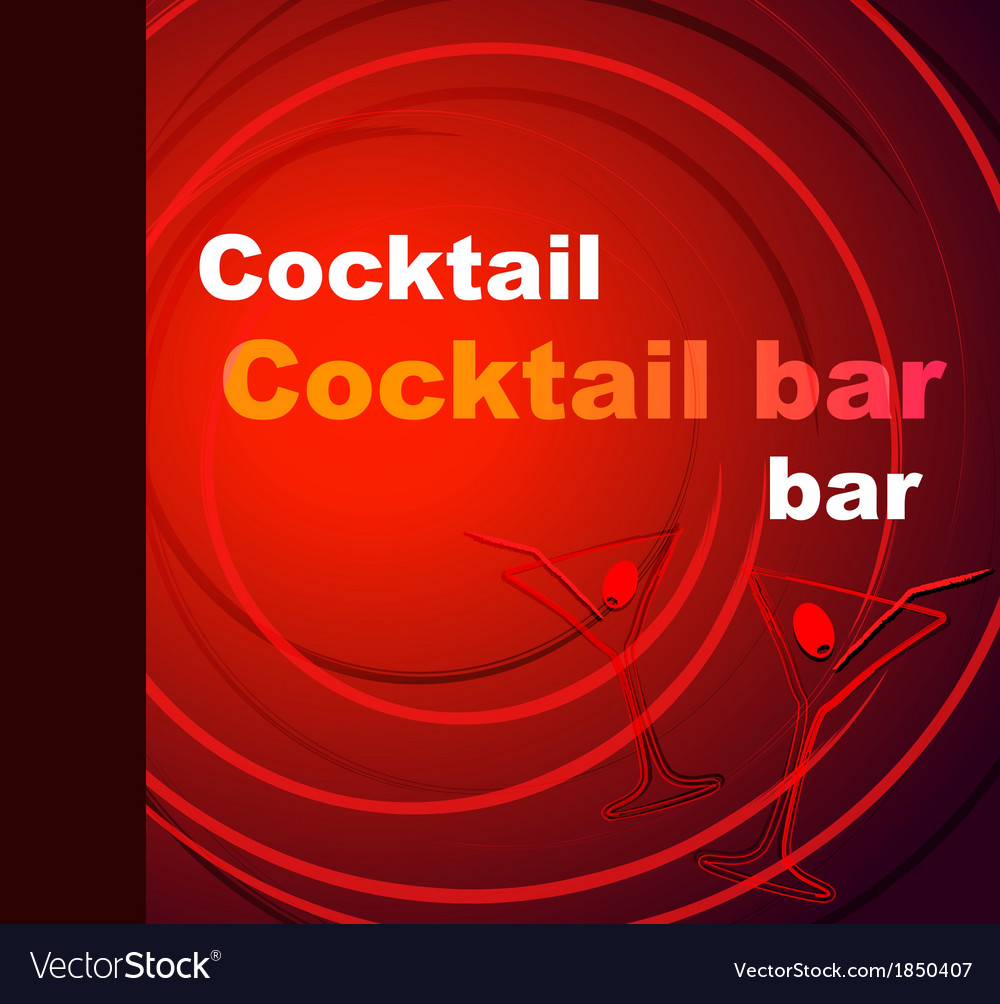Template of a cocktail bar vector | Price: 1 Credit (USD $1)