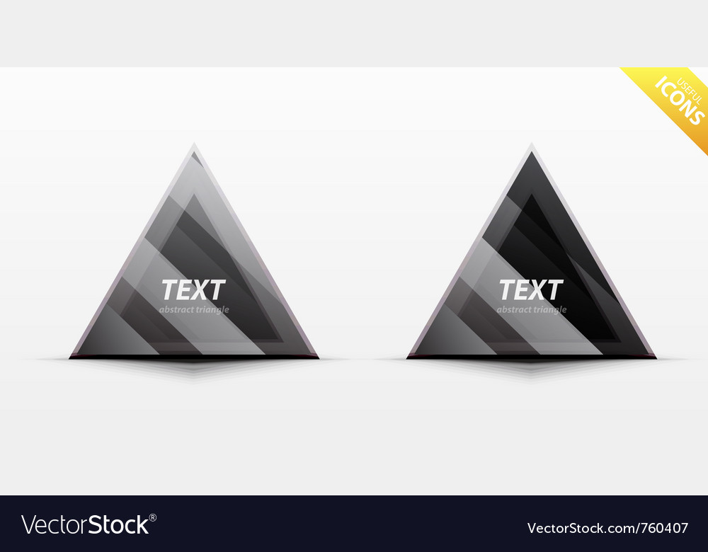 Triangle business design element vector | Price: 1 Credit (USD $1)