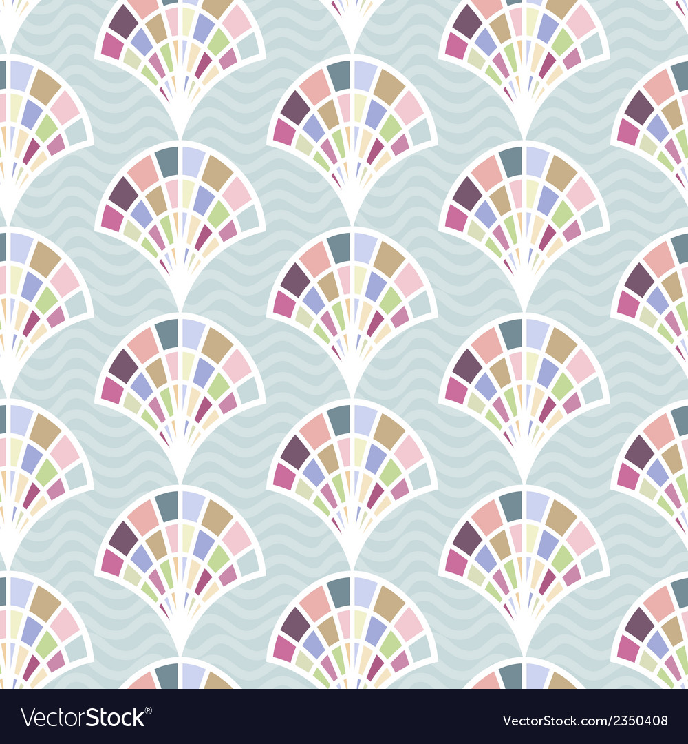 Abstract seamless pattern with shell vector | Price: 1 Credit (USD $1)