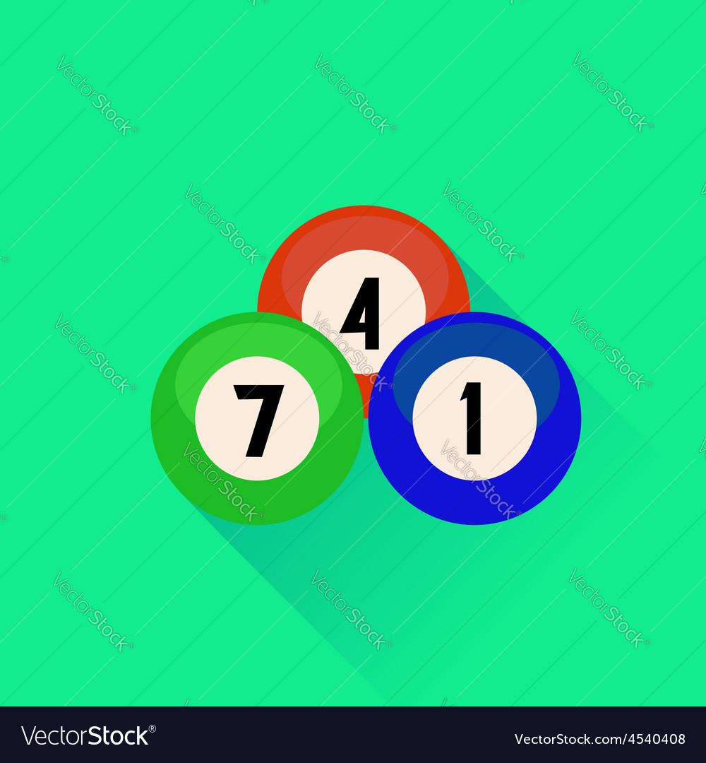 Billiard balls icon vector | Price: 1 Credit (USD $1)