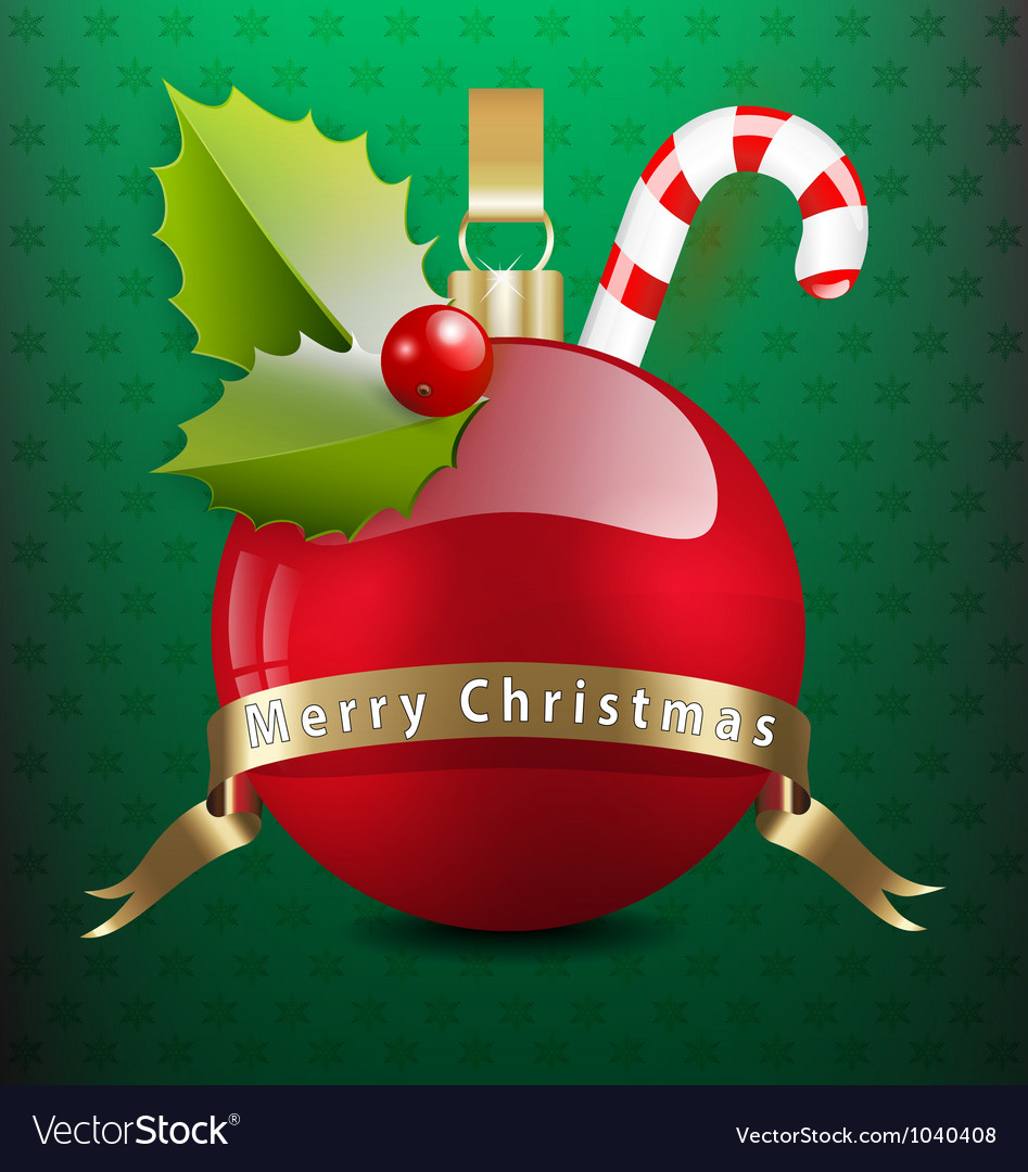 Christmas background with various decors vector | Price: 1 Credit (USD $1)