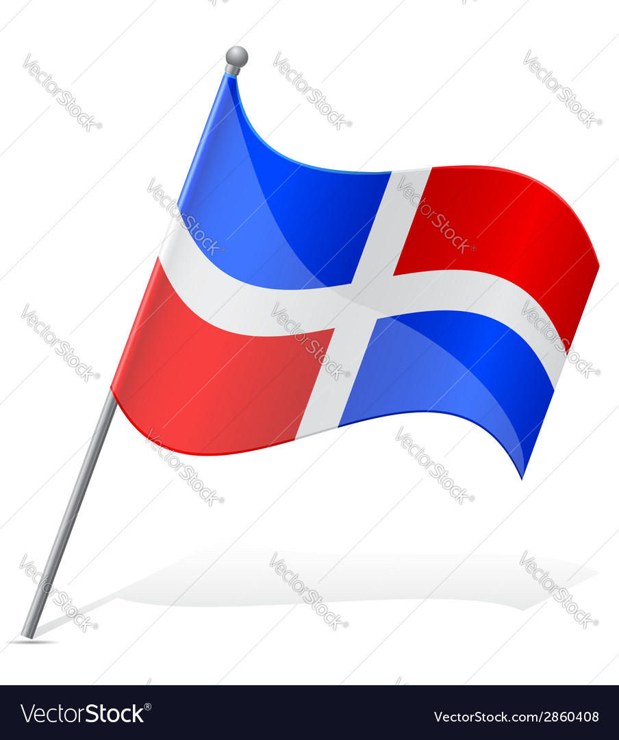 Flag of dominican vector | Price: 1 Credit (USD $1)