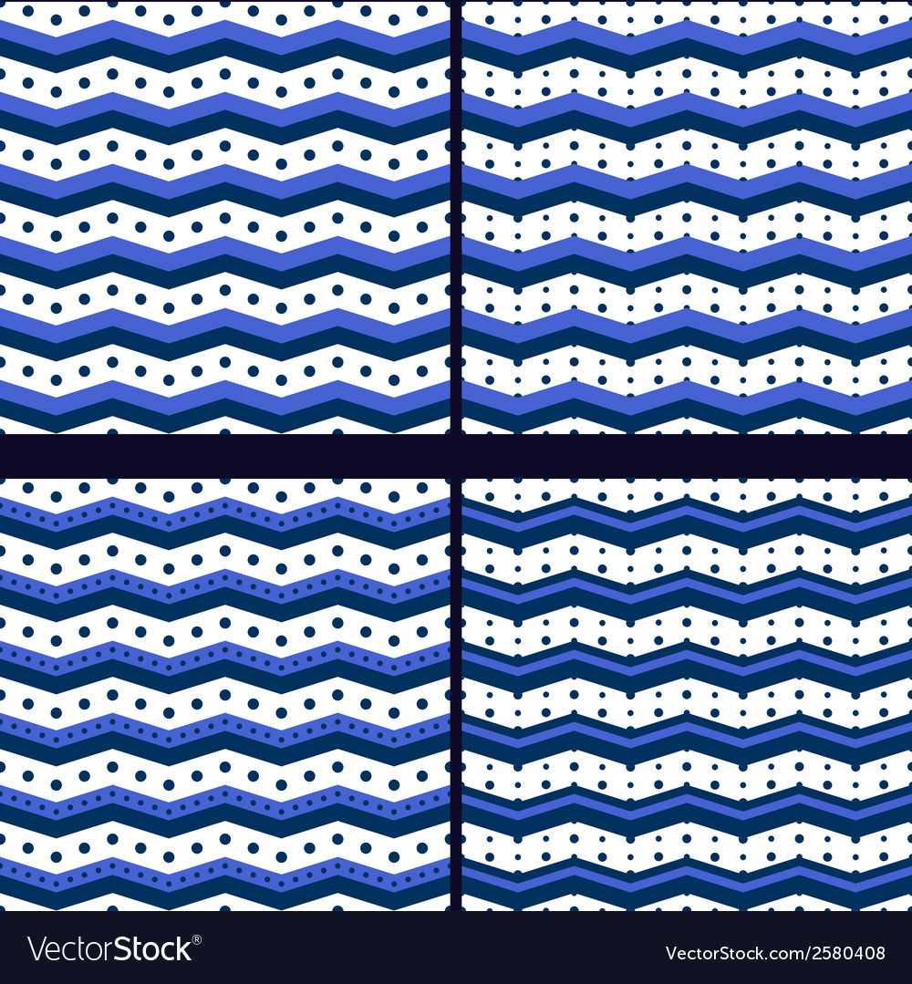 Marine zigzag with polka dot vector | Price: 1 Credit (USD $1)