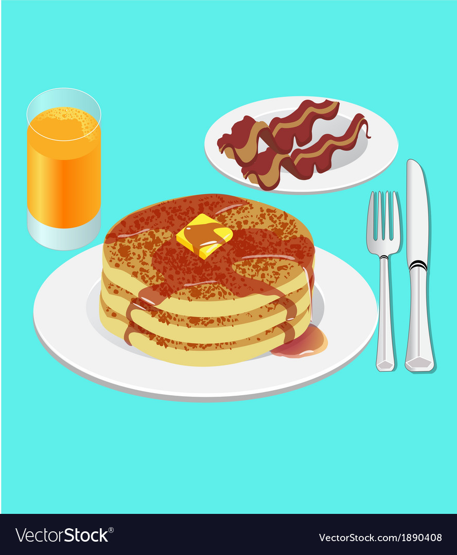 Pancakes for breakfast vector | Price: 1 Credit (USD $1)