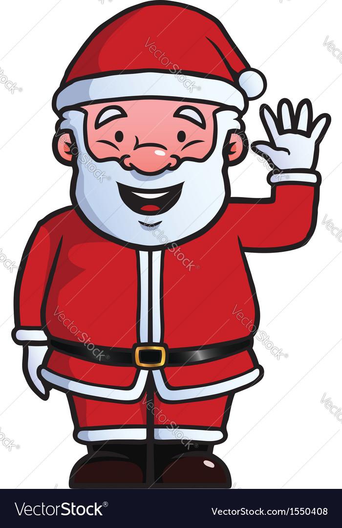 Santa claus waving at camera vector | Price: 1 Credit (USD $1)