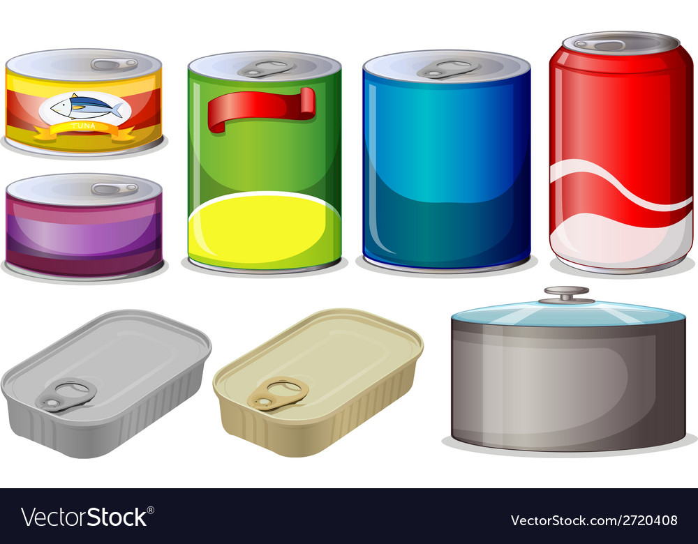 Set of cans vector | Price: 1 Credit (USD $1)