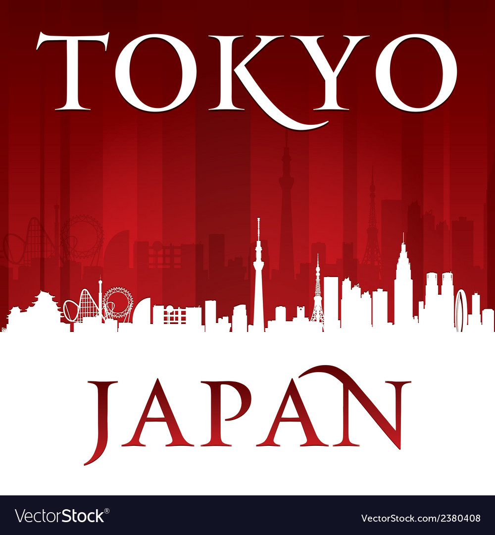 Tokyo japan city skyline silhouette vector | Price: 1 Credit (USD $1)
