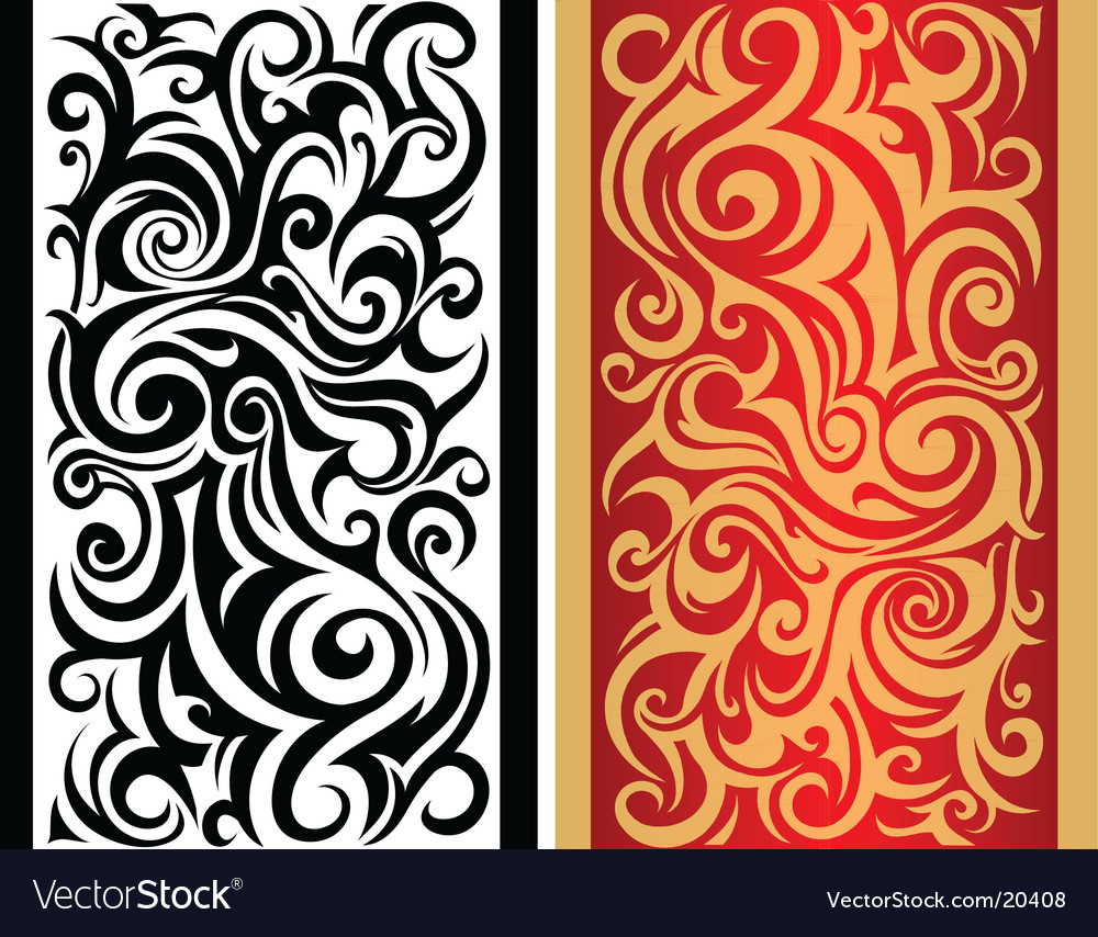 Tribal boarder pattern vector | Price: 1 Credit (USD $1)