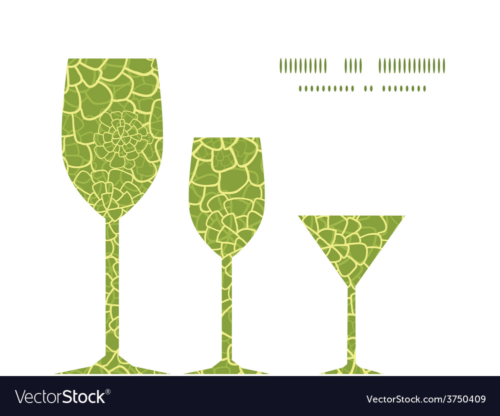 Abstract green natural texture three wine vector | Price: 1 Credit (USD $1)