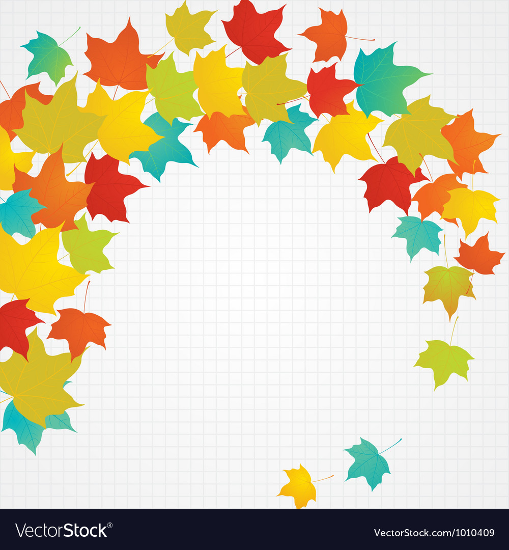 Autumn flying leaves with blank copy space vector | Price: 1 Credit (USD $1)