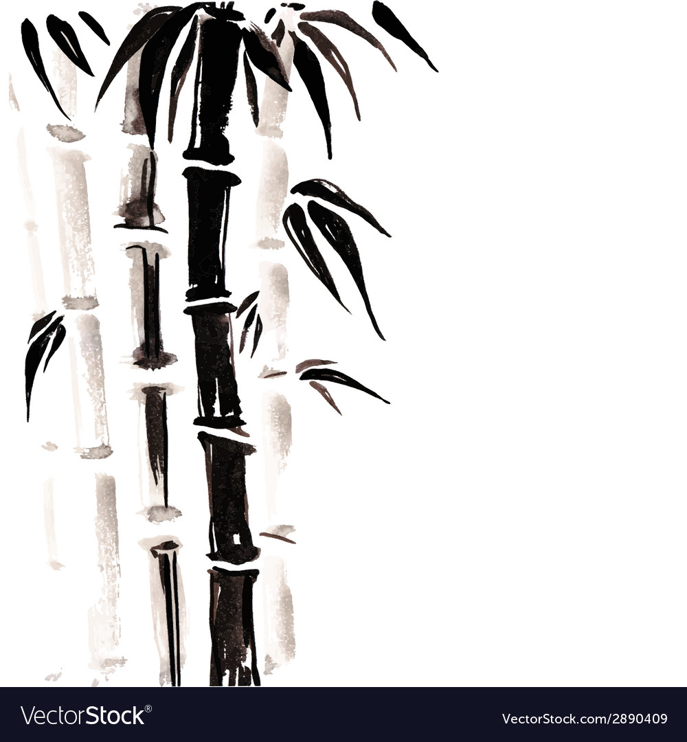 Bamboo in chinese style vector | Price: 1 Credit (USD $1)