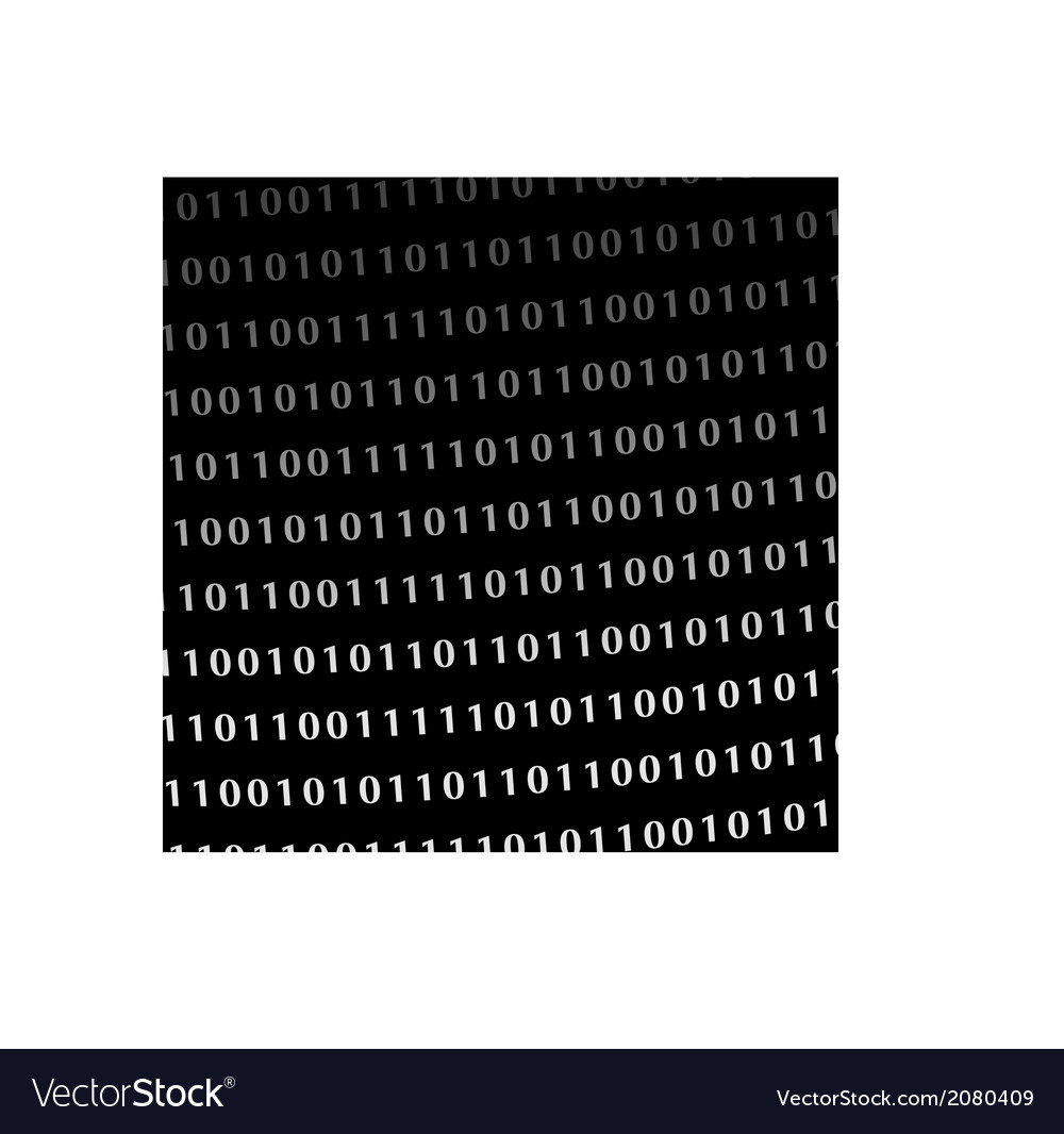 Binary computer language monitor digits vector | Price: 1 Credit (USD $1)