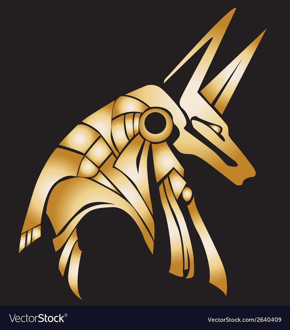 Egyptian anubis statue vector | Price: 1 Credit (USD $1)