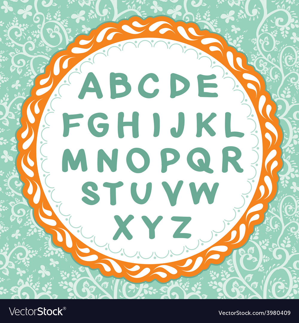 English alphabet letter on the floral background vector   Price: 1 Credit (USD $1)