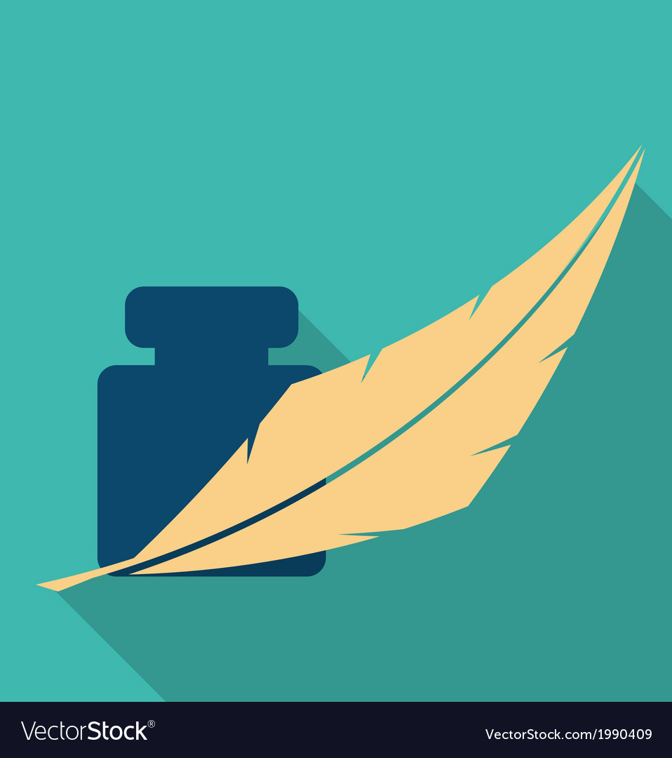 Feather and ink icon vector | Price: 1 Credit (USD $1)