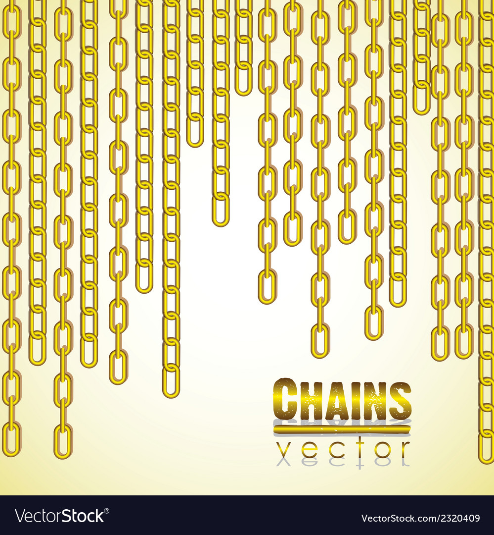 Gold link chain dangling vector | Price: 1 Credit (USD $1)