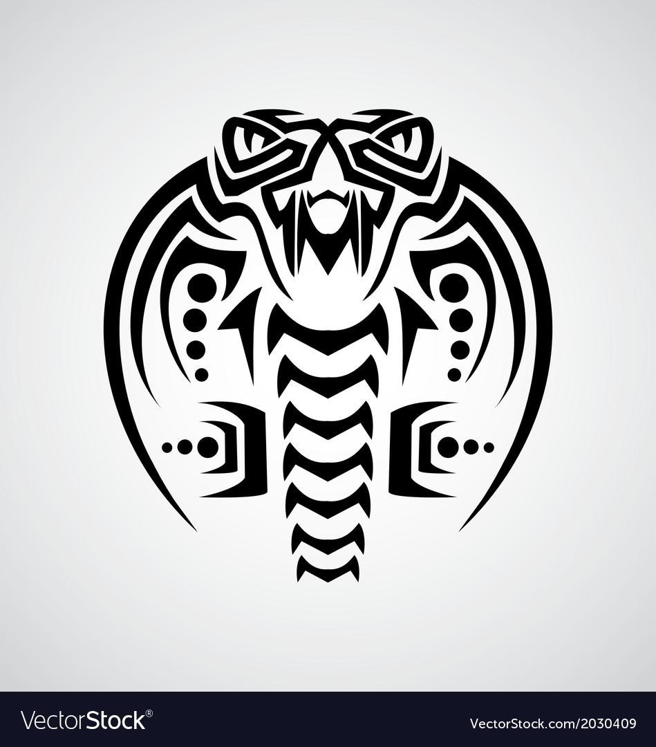 King cobra tribal vector | Price: 1 Credit (USD $1)