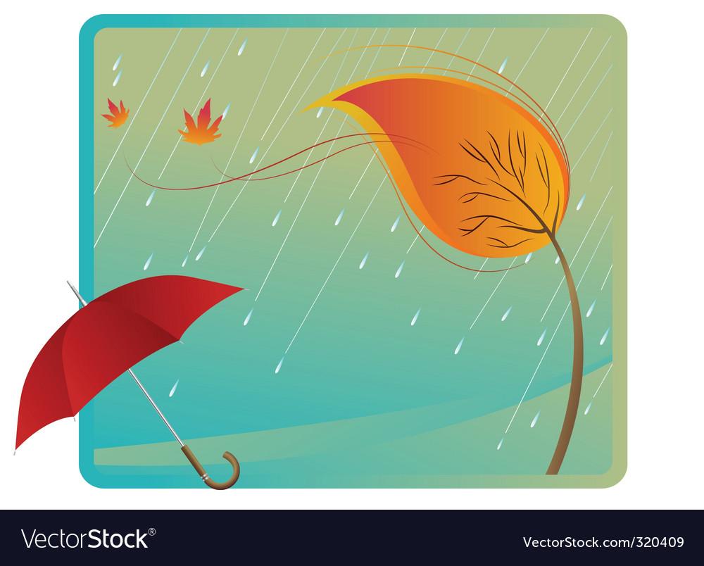 Leaf and umbrella vector | Price: 1 Credit (USD $1)