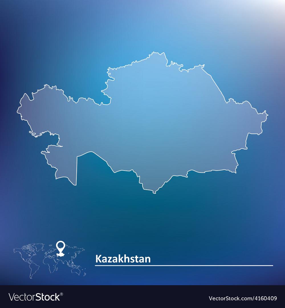 Map of kazakhstan vector   Price: 1 Credit (USD $1)