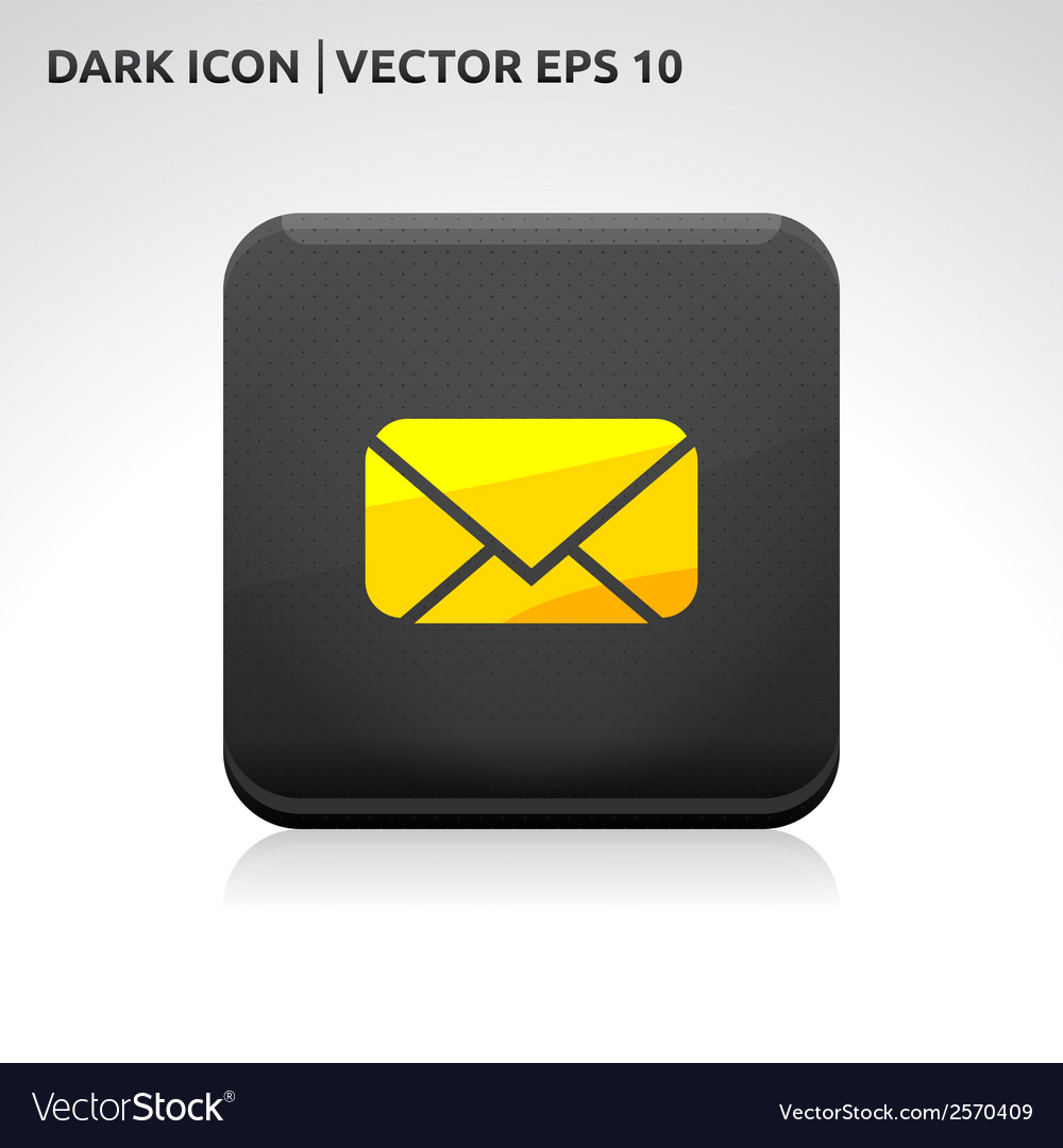 Message email sms icon gold vector | Price: 1 Credit (USD $1)