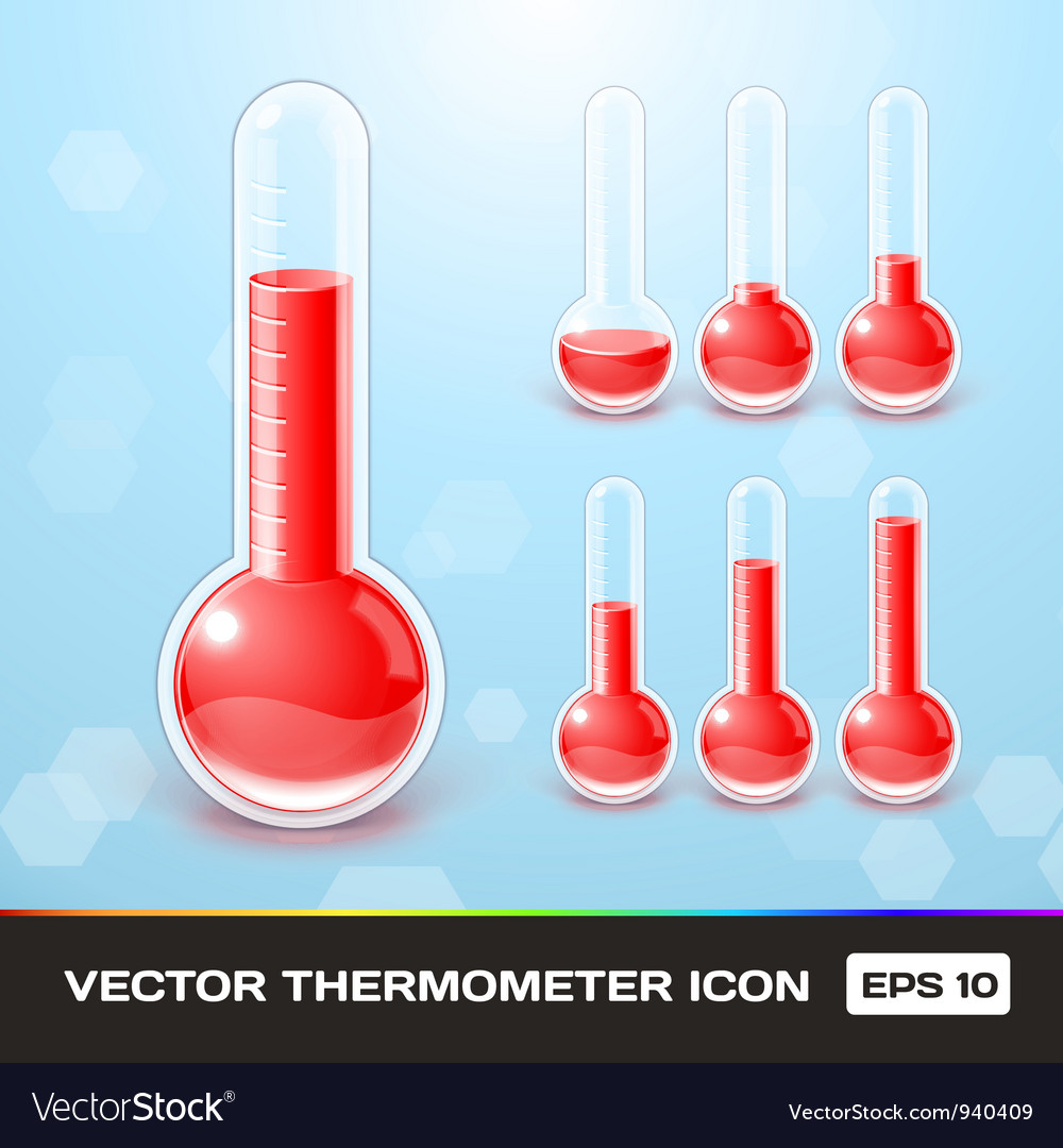 Thermometer icons vector | Price: 3 Credit (USD $3)
