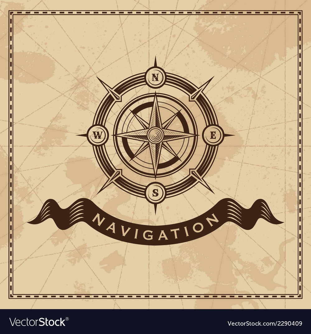 Wind rose - nautical compass vector | Price: 1 Credit (USD $1)