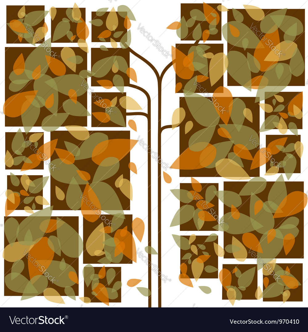 Abstract colorful autumn leaves vector | Price: 1 Credit (USD $1)