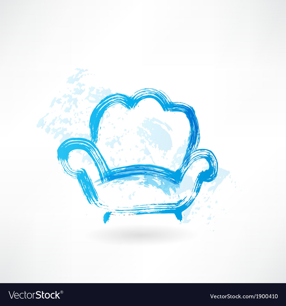 Armchair grunge icon vector | Price: 1 Credit (USD $1)