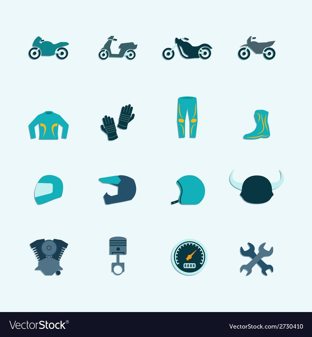 Biker icon set vector | Price: 1 Credit (USD $1)